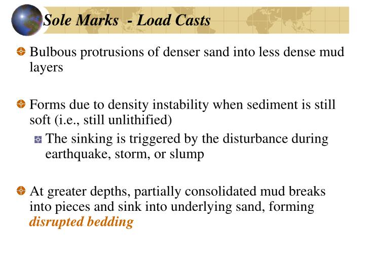 Sole Marks  - Load Casts