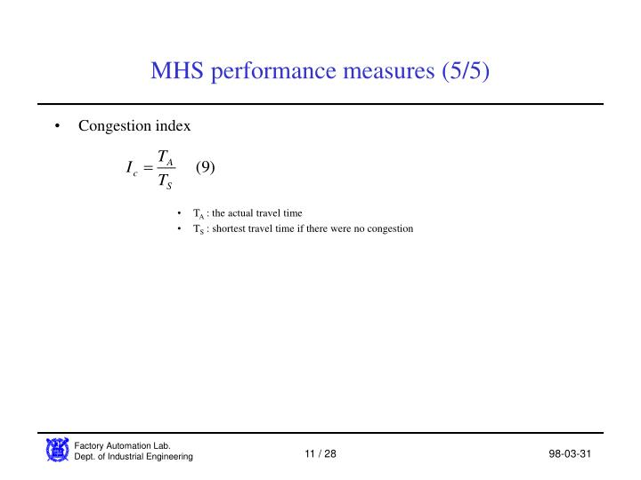 MHS performance measures (5/5)