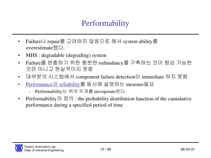 Performability