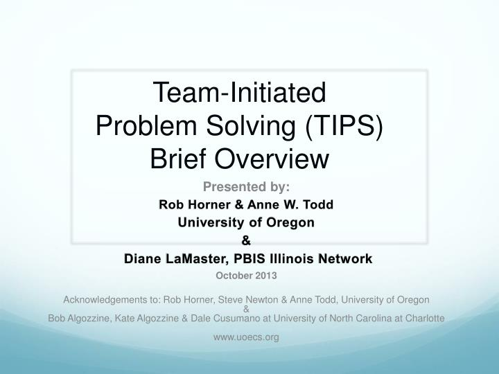 case briefing and problem solving Problem solving treatment for primary care problem solving therapy for primary care medicine o starts with a brief problem list.