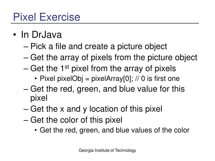 Pixel Exercise