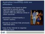 australian travelling child sex offenders