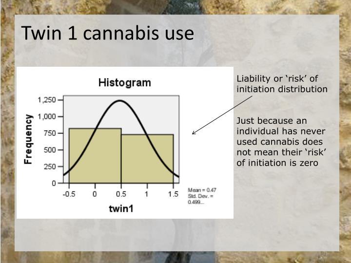 Twin 1 cannabis use