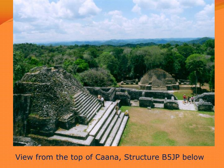 View from the top of Caana, Structure B5JP below