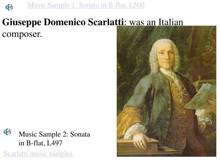 Music Sample 1: Sonata in B-flat, L500