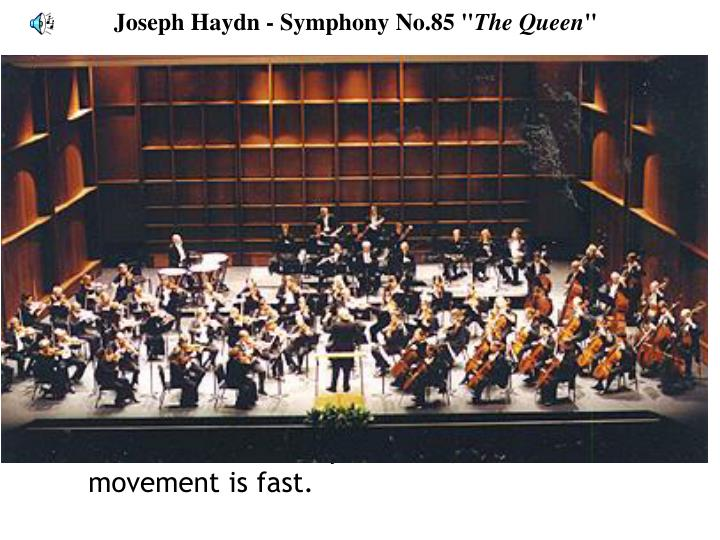 "Joseph Haydn - Symphony No.85 """