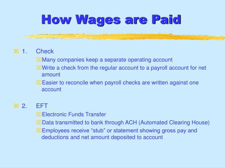 How Wages are Paid