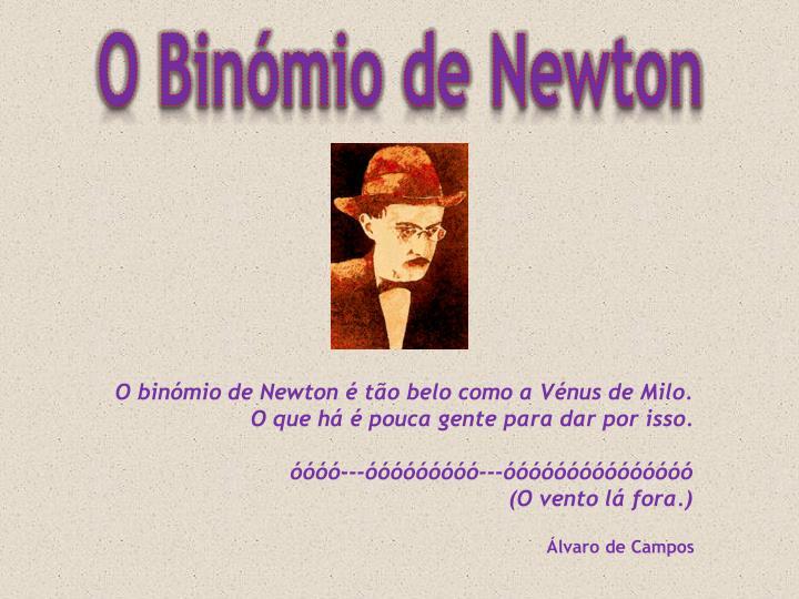 O Binómio de Newton