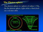 the photon sphere