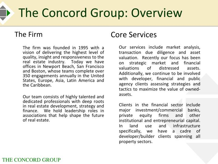 The Concord Group: Overview