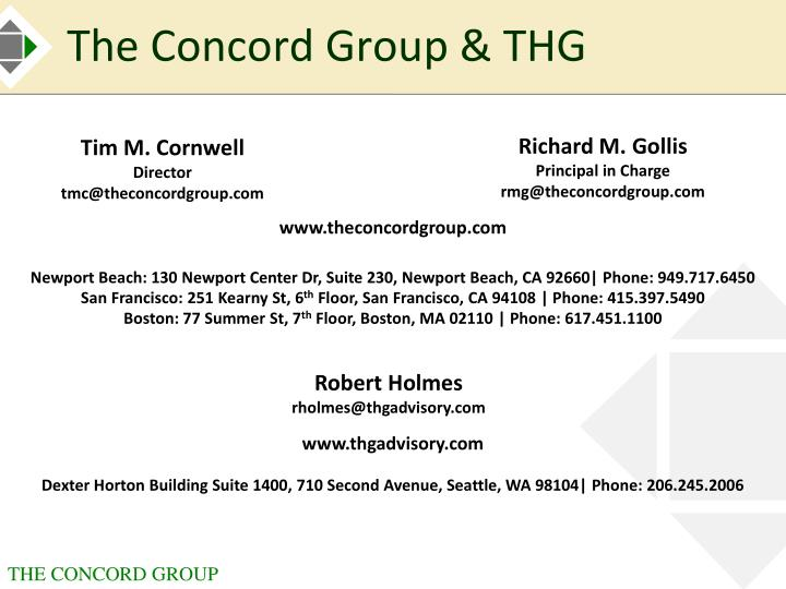 The Concord Group & THG