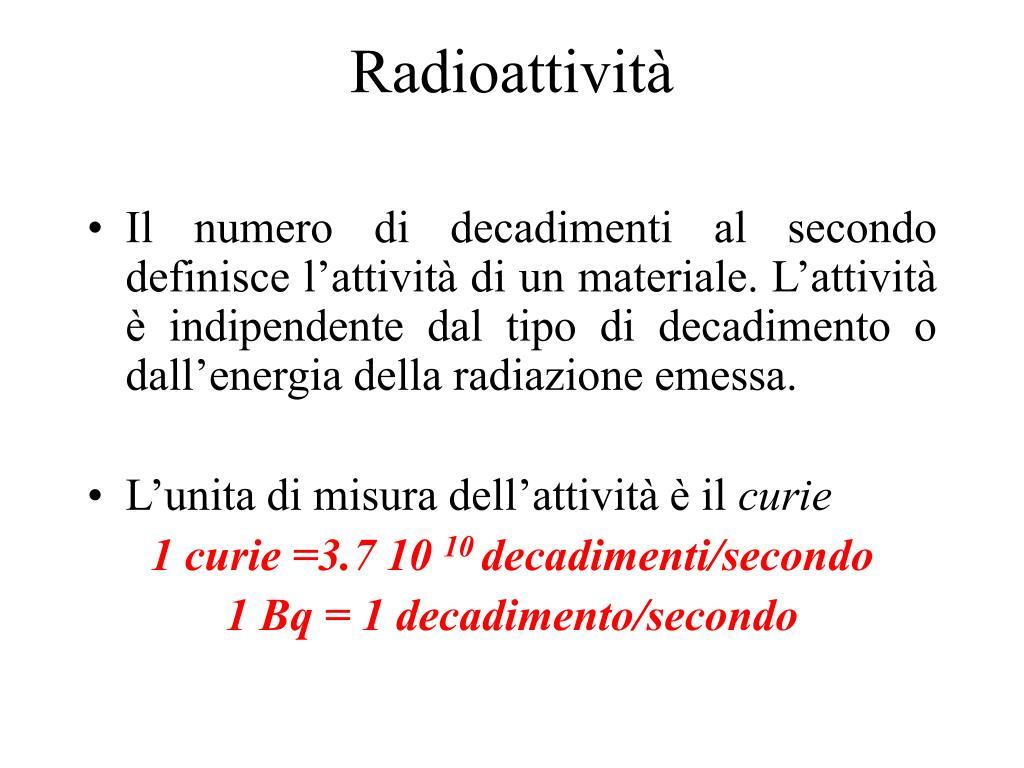 attività di datazione radioattiva