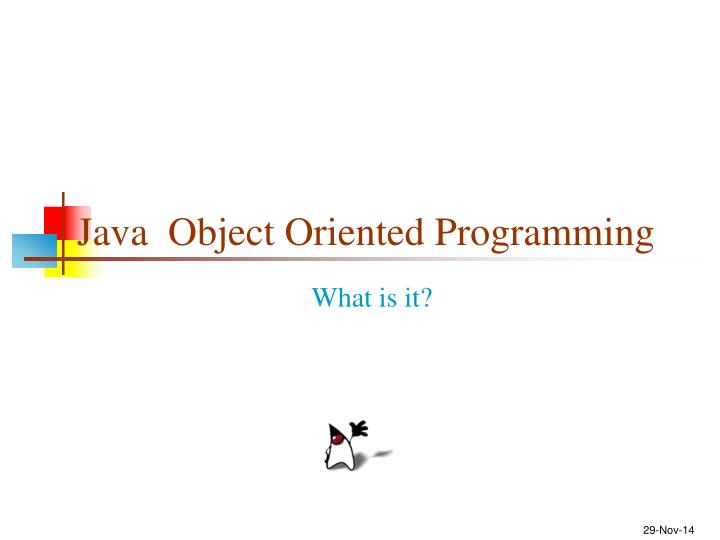 Java object oriented programming
