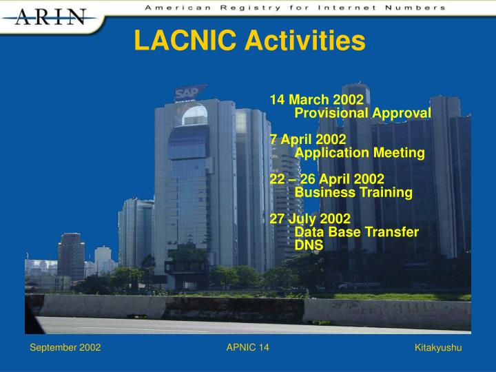 LACNIC Activities