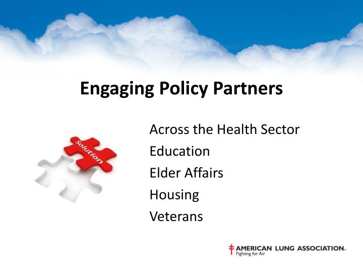 Engaging Policy Partners
