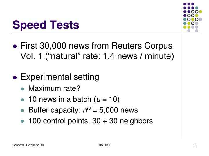 Speed Tests