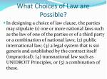 what choices of law are possible