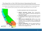 the need for a cal cop common operating picture