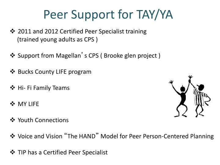 Peer Support for TAY/YA