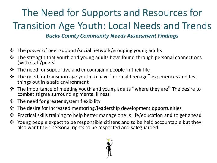 The Need for Supports and Resources for Transition Age Youth: Local Needs and Trends