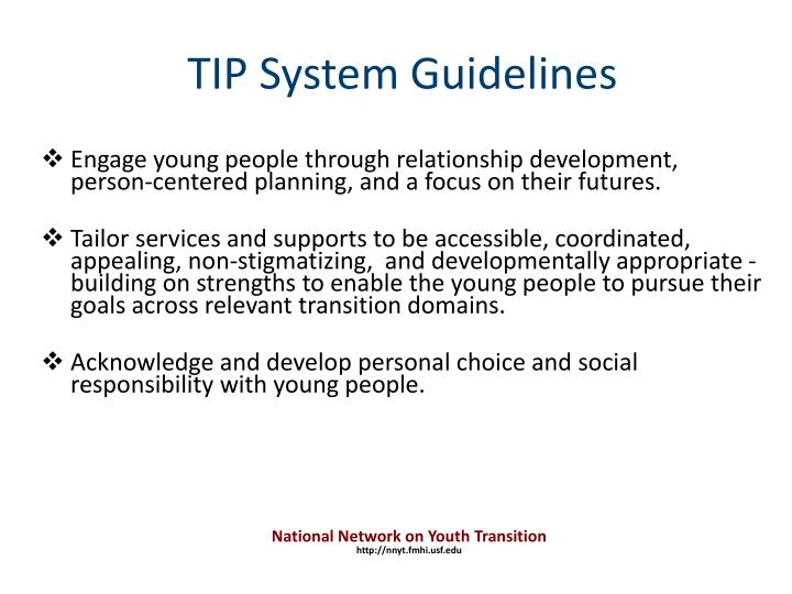 Engage young people through relationship development,