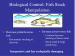 biological control fish stock manipulation