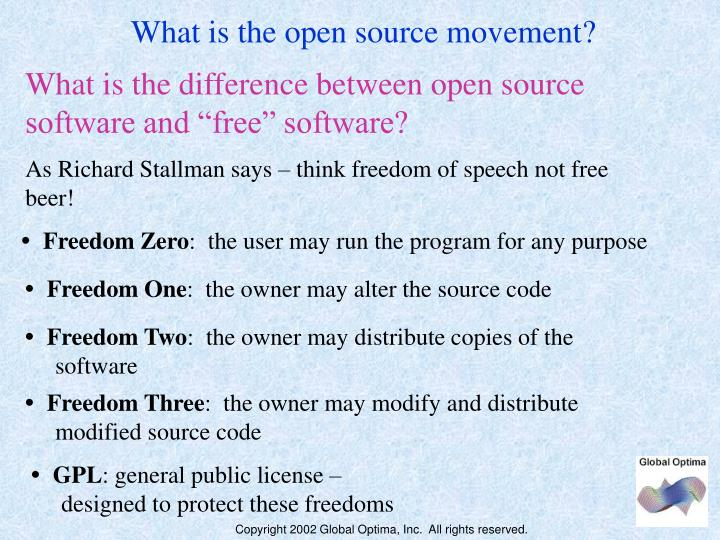 What is the open source movement?