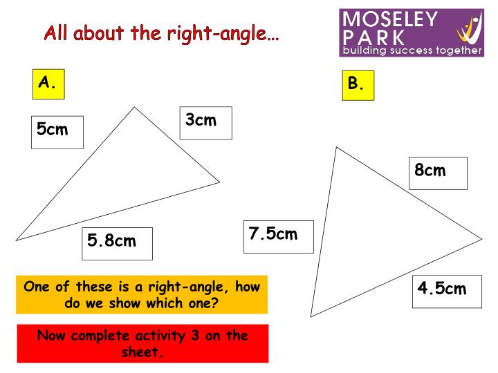All about the right-angle…