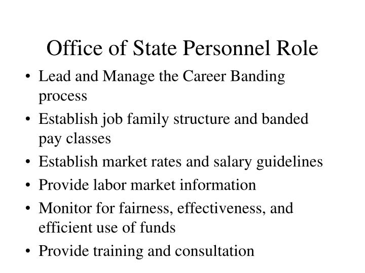 Office of State Personnel Role