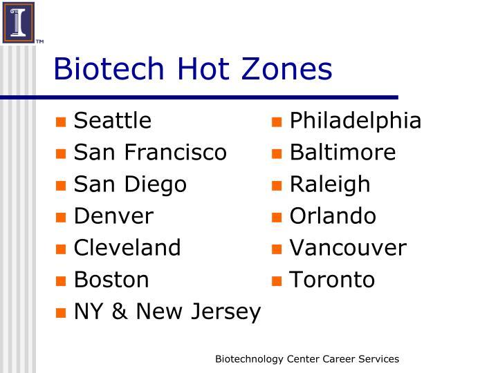 Biotech Hot Zones
