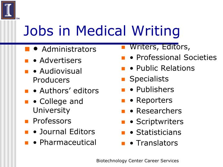 Jobs in Medical Writing