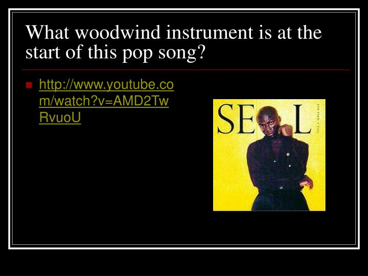 What woodwind instrument is at the start of this pop song?