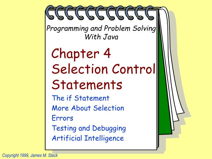 chapter 4 selection control statements n.