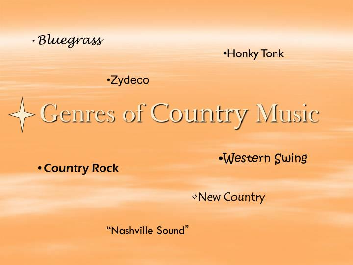 Genres of country music