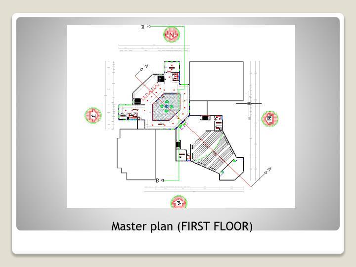 Master plan (FIRST FLOOR)