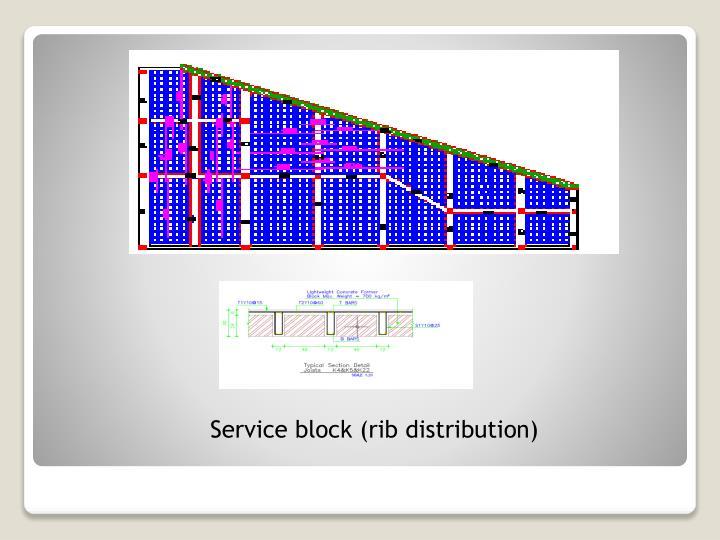Service block (rib distribution)