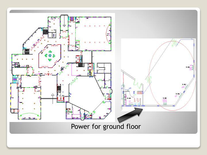 Power for ground floor