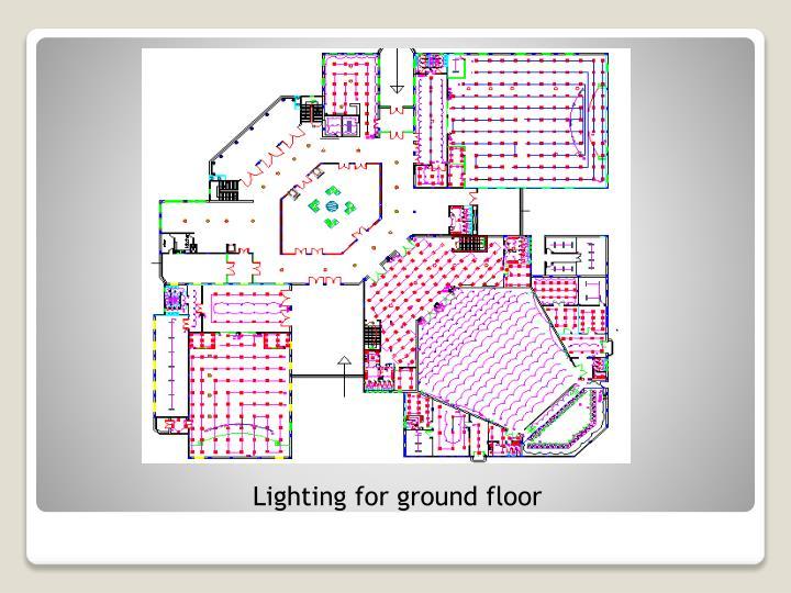 Lighting for ground floor