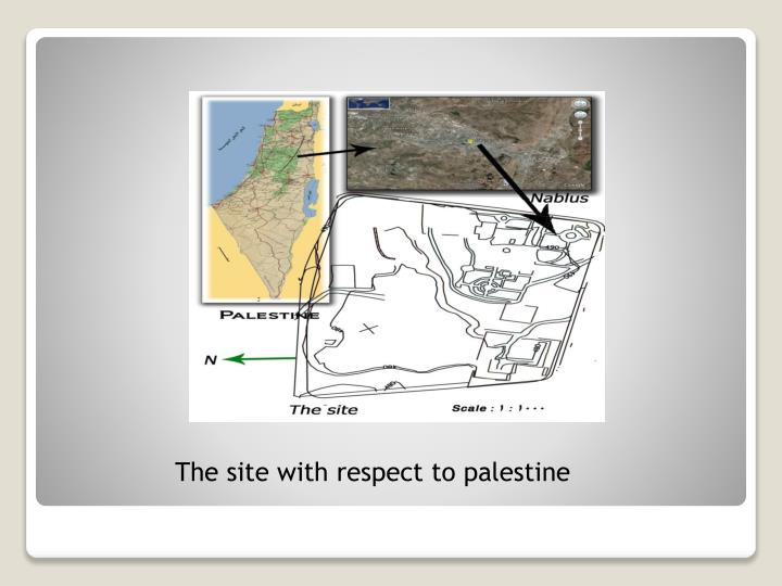 The site with respect to palestine