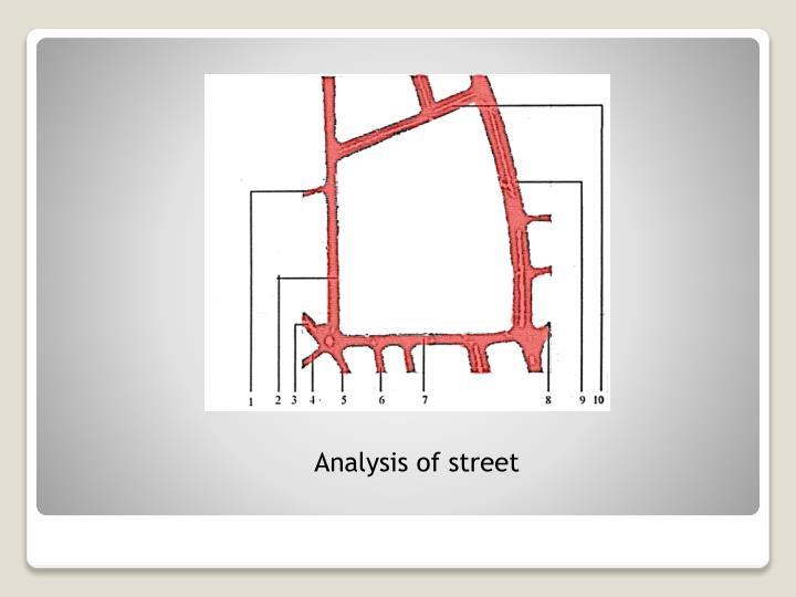 Analysis of street
