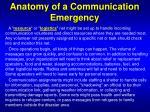 anatomy of a communication emergency1