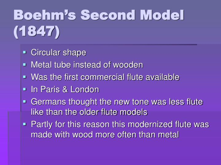 Boehm's Second Model