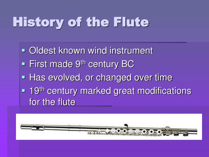 History of the Flute