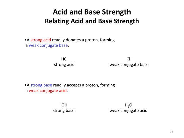 Acid and Base Strength