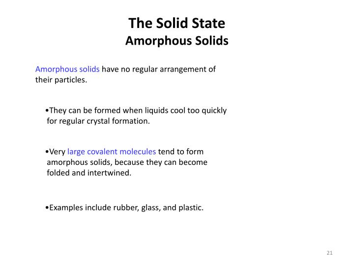 The Solid State