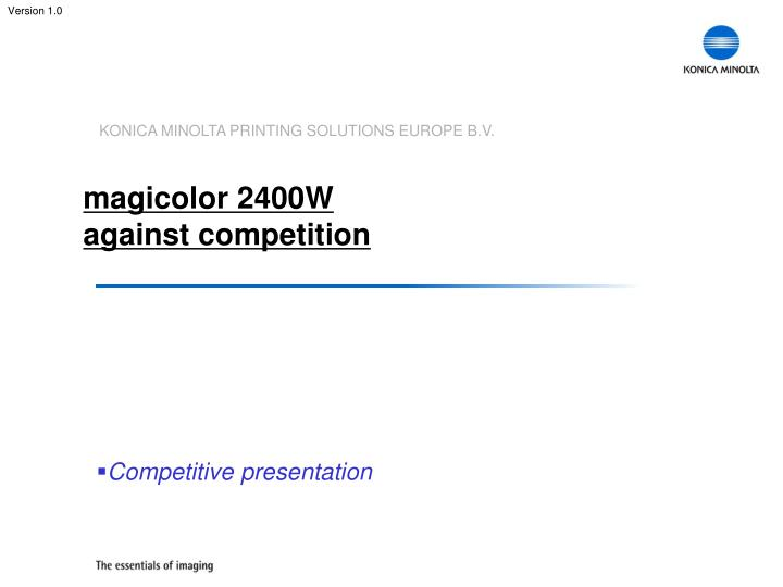 magicolor 2400w against competition n.