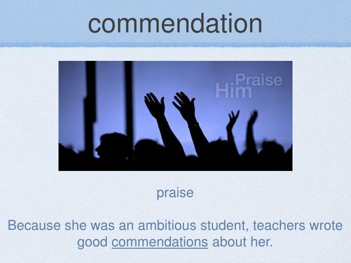 commendation