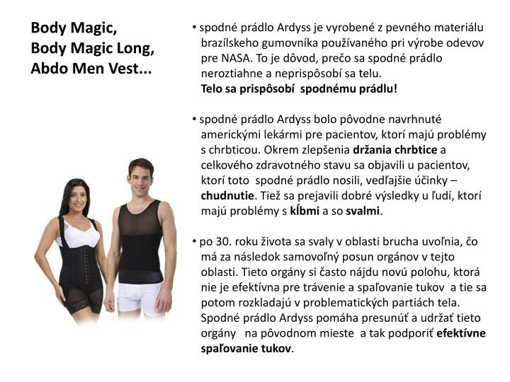 Body magic body magic long abdo men vest