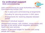 co ordinated support joint commissioning