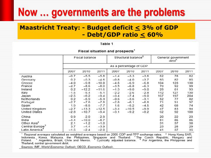 Now … governments are the problems